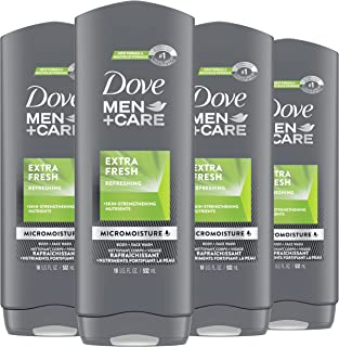 Dove Men+Care Body Wash for Men's Skin Care Extra Fresh Effectively Washes Away Bacteria While Nourishing Your Skin 18 oz ...