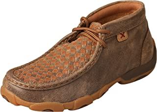 Twisted X Youth's Leather Lace-Up Rubber Sole Driving Moccasinss - Bomber/Tan