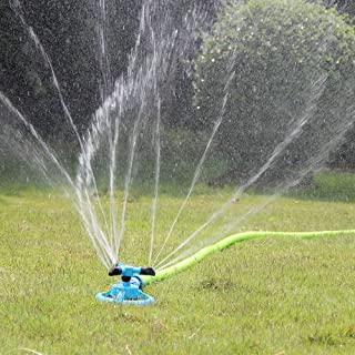Kadaon Lawn Sprinkler, Automatic Garden Water Sprinklers Lawn Irrigation System 3600 Square Feet Coverage Rotation 360 Degree