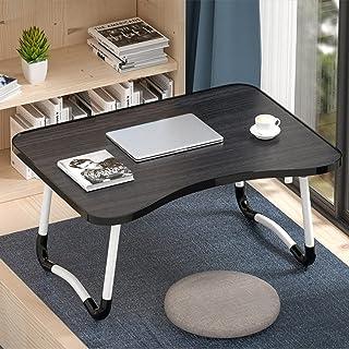 BZN W-shaped Non-slip Legs Adjustable Folding Portable Laptop Desk without Card Slot (Color : Black)