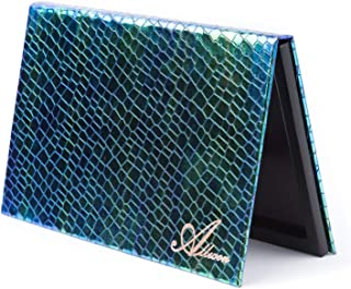 Allwon Magnetisch palet Zeemeermin leeg make-up palet met spiegel en 30 stuks zelfklevend leeg palet Metalen stickers voor...