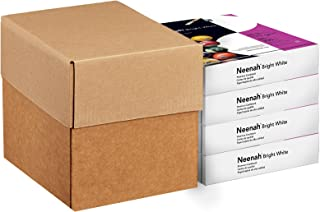 "Neenah Paper Bright White Cardstock, 8.5"" x 11"", 65 lb/176 gsm, Bright White, 96 Brightness, 1000 Sheets, 4 Pack (91904)"