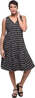 Myla Dress in Black Flamingo Print