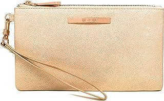 Womens Leather Wristlet Lightweight Clutch - U+U Cellphone Purse Wallet Soft Ladies Handbag