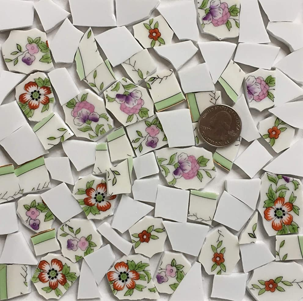 Broken China Mosaic Tile Art Supply for Crafts ~ Tiles (T#A300)