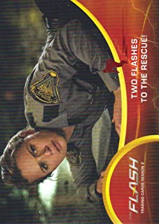 2017 The Flash Season 2 Trading Cards Scarlet Speedster Deco Foil #7 Two Flashes to the Rescue!