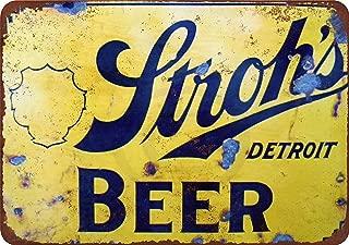 Custom Kraze Stroh's Beer Vintage Reproduction Metal Sign 8 x 12