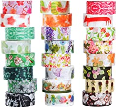 Washi Masking Tape Set of 24 Decorative Masking Tape CollectionTape for DIY Crafts and Gift Wrapping Office Party Supplies