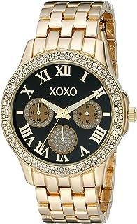 XOXO Women's XO182 Analog Display Analog Quartz Gold Watch