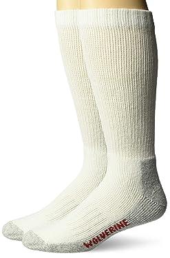 Wolverine Men's 2 Pack Steel Toe Cotton Mid Calf Sock