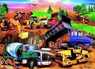 لعبة أحجية تركيب الصور لموقع بناء مزدحم من 60 قطعة للأطفال من رافنسبورجر - كل قطعة فريدة من نوعها، القطع تتناسب معًا بشكل ...