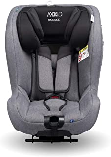 AXKID MODUKID SEAT Silla de Coche Grupo 0 y 1, Asiento de Automóvil para Niños de 0-18 Kg, Sillita para Coche, Silla de Coche de Bebé de 0 a 4 Años, Silla para 61-105 Cm (Gris)