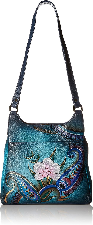 Anna by Charlotte Mall Anuschka Satchel Handbag Leather Genuine 2021 new