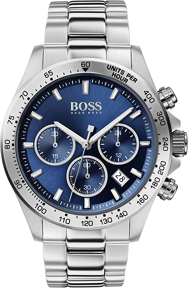 Hugo boss orologio cronógrafo uomo con cinturino in acciaio inox 10002380