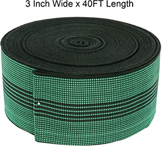 """Homend Sofa Elastic Webbing Stretch Band Furniture Repair DIY Upholstery Modification Elasbelt Chair Couch Material Replacement Stretchy Spring Alternative 3"""" Wide x 40' Length"""