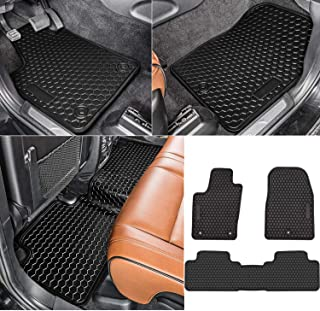 Bonbo Floor Liner Mats for Jeep Grand Cherokee 2011-2018,Custom Fit,Front and Rear Seat Floor Mats,All-Weather Guard,Heavy Duty Rubber,Odorless(Pack of 3)
