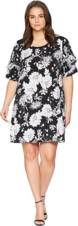 Plus Size Ruffle Sleeve Dress