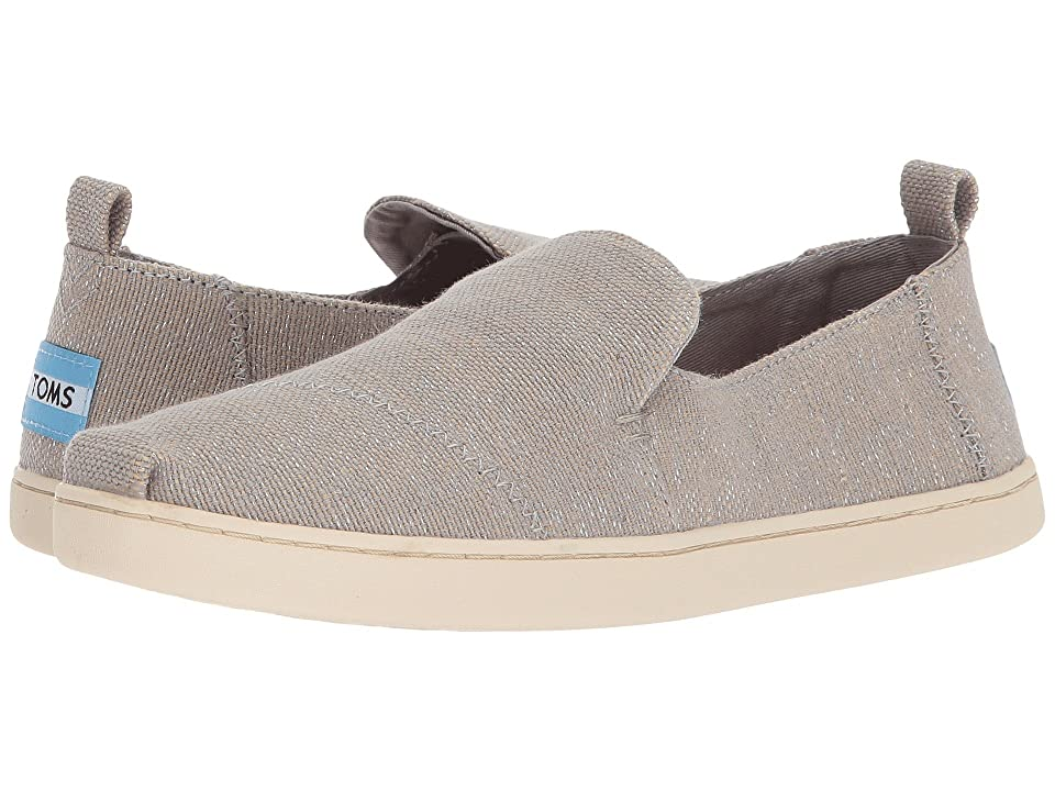 TOMS Deconstructed Alpargata (Drizzle Grey Metallic Jute) Women