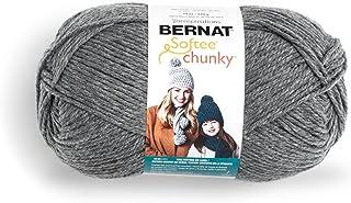 Bernat Big Ball Chunky Solid Yarn - (6) Super Bulky Gauge 100% Acrylic - 14 oz - True Grey - Machine Wash & Dry