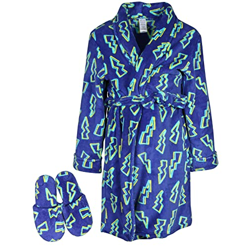 Too Cool 2 Sleep Boys Printed Robe Slippers 1bb0c4bbc