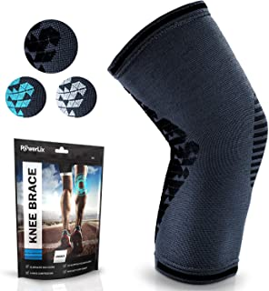 POWERLIX Knee Compression Sleeve | Knee Brace for Men & Women | Helps with Knee Pain | Knee Support for Running, Basketbal...