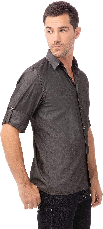 Chef Works Men's Detroit Long Sleeve Denim Shirt