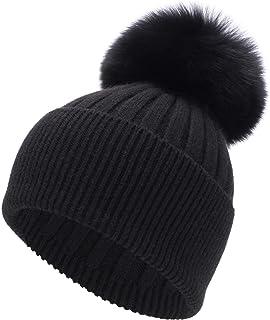 Black Ostrich Feather  Embellished Black Ski Hat Beanie