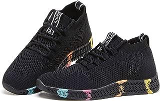 BOYATU Women's Slip On Walking Tennis Shoes Lightweight Sock Sneakers Trainers Shoes