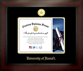Celebration Frames University of Hawai'i 8 x 10 Mahogany Finish Infinity Diploma Frame