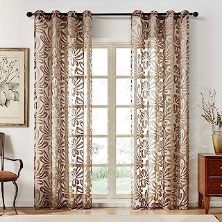 47 x 47 Smartcoco Flower Printed Roman Windows Curtain Tulle Door Curtain Kitchen Living Room Home Decor