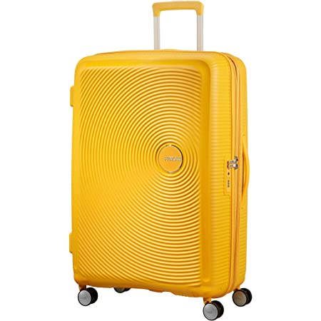 American Tourister - Soundbox Spinner Extensible, 77cm, 97/110 L - 4.2 KG, Jaune (Golden Yellow)