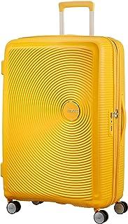 AMERICAN TOURISTER Soundbox - Spinner L Espandibile Bagaglio a Mano, Spinner L (77 cm - 110 L), Giallo (Golden Yellow)