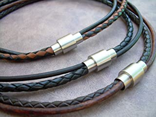 Best mens necklace leather Reviews