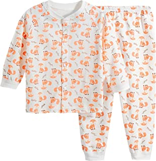 Baby Pajamas Sets Boy Girl Cute Sleepwear 2-Piece PJ Set Home Wear 3M-24M