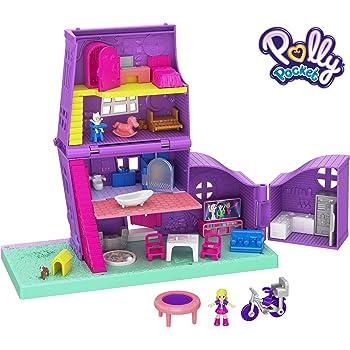 POLLY Pocket Shani para Jugar y coleccionar Conjunto de Ropa Purple /& Polly Conjunto de 3 Figuras de Juego con Elegantes atuendos