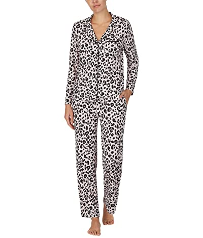 Kate Spade New York Brushed Sweater Knit Pajama Set (Sketched Leopard) Women