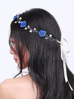 dark blue flower crown
