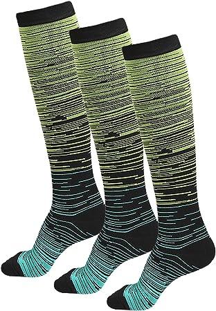 Staright Meias esportivas femininas meias de compressão para corrida, ciclismo, caminhada