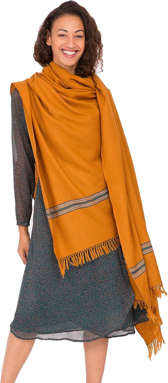 Likemary Merino Wool Travel Blanket Scarf & Oversize Pashmina Wrap Fairtrade Mansi 100 x 200cm