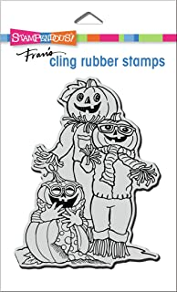 STAMPENDOUS Cling Rubber Stamp Pumpkin PA