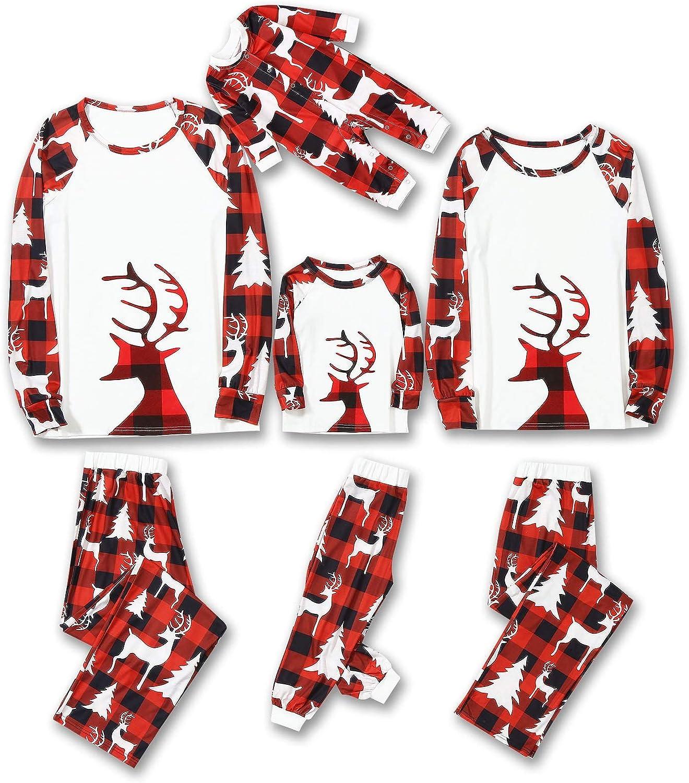 Family Matching Christmas Pajamas 2 Piece Dad Max 58% OFF Kid Mom Detroit Mall Baby Sets