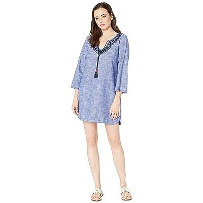 Hatley Tory Dress (Chambray Gauze Blue) Women