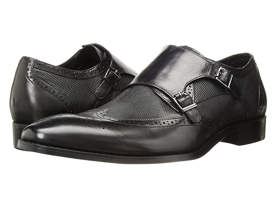 Stacy Adams Lavine Wingtip Double Monkstrap (Black) Men