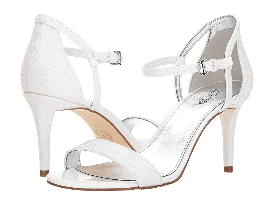 MICHAEL Michael Kors Simone Mid Sandal (Optic White) Women