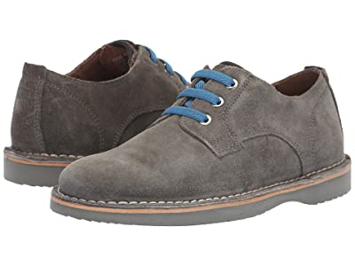Florsheim Kids Navigator Plain Toe Oxford Jr. (Toddler/Little Kid/Big Kid) (Gray Suede) Boy