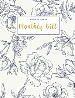 Monthly Bill Planner and Organizer: budget my paycheck | 3 Year Calendar 2020-2022 Budget Planning, Financial Planning Jou...