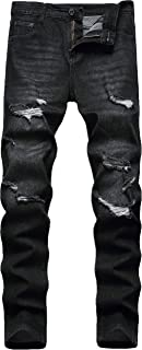 Men's Ripped Distressed Destroyed Skinny Fit Stretch Comfy Fashion Denim Jeans Pants