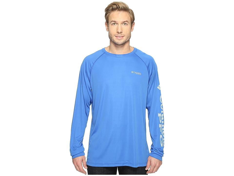 Columbia Terminal Tackletm L/S Shirt (Vivid Blue/Cool Grey Logo) Men