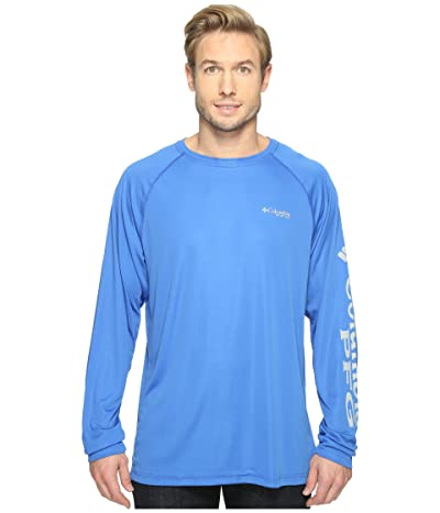 Columbia Terminal Tackletm L/S Shirt (Vivid Blue/Cool Grey Logo) Men
