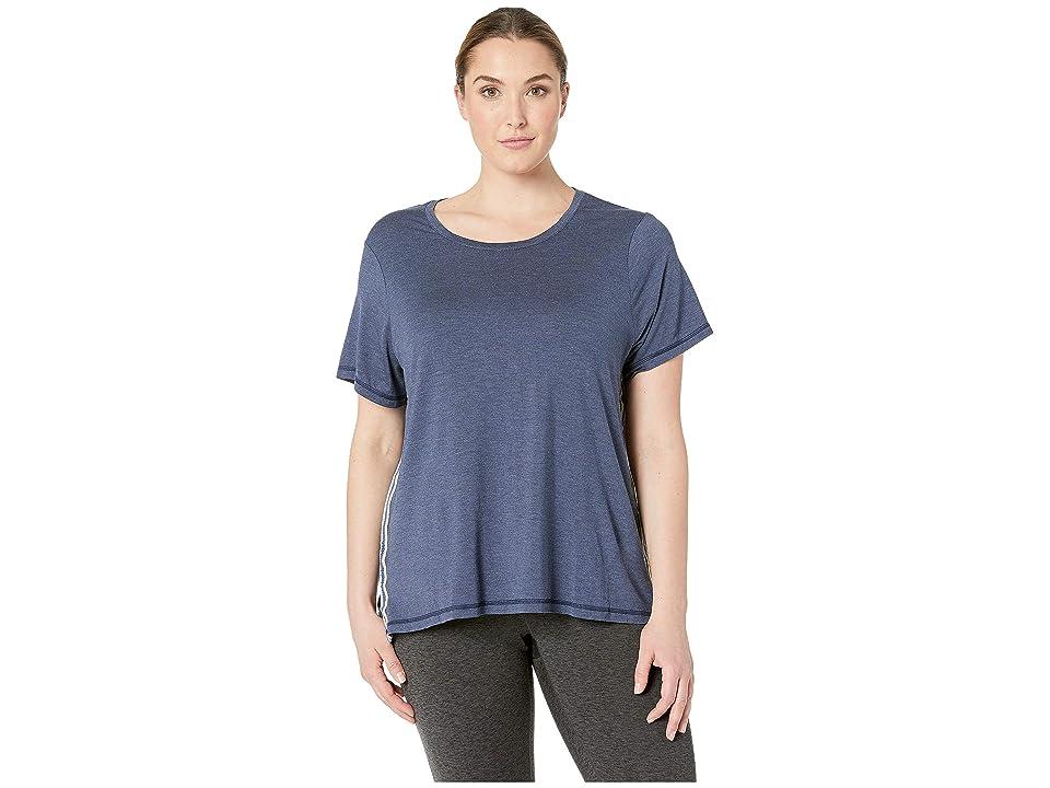 SHAPE Activewear Plus Size Track Star Tee (Navy) Women